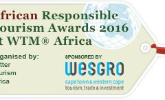 WESGRO continues support for Responsible Tourism Awards at WTM® Africa