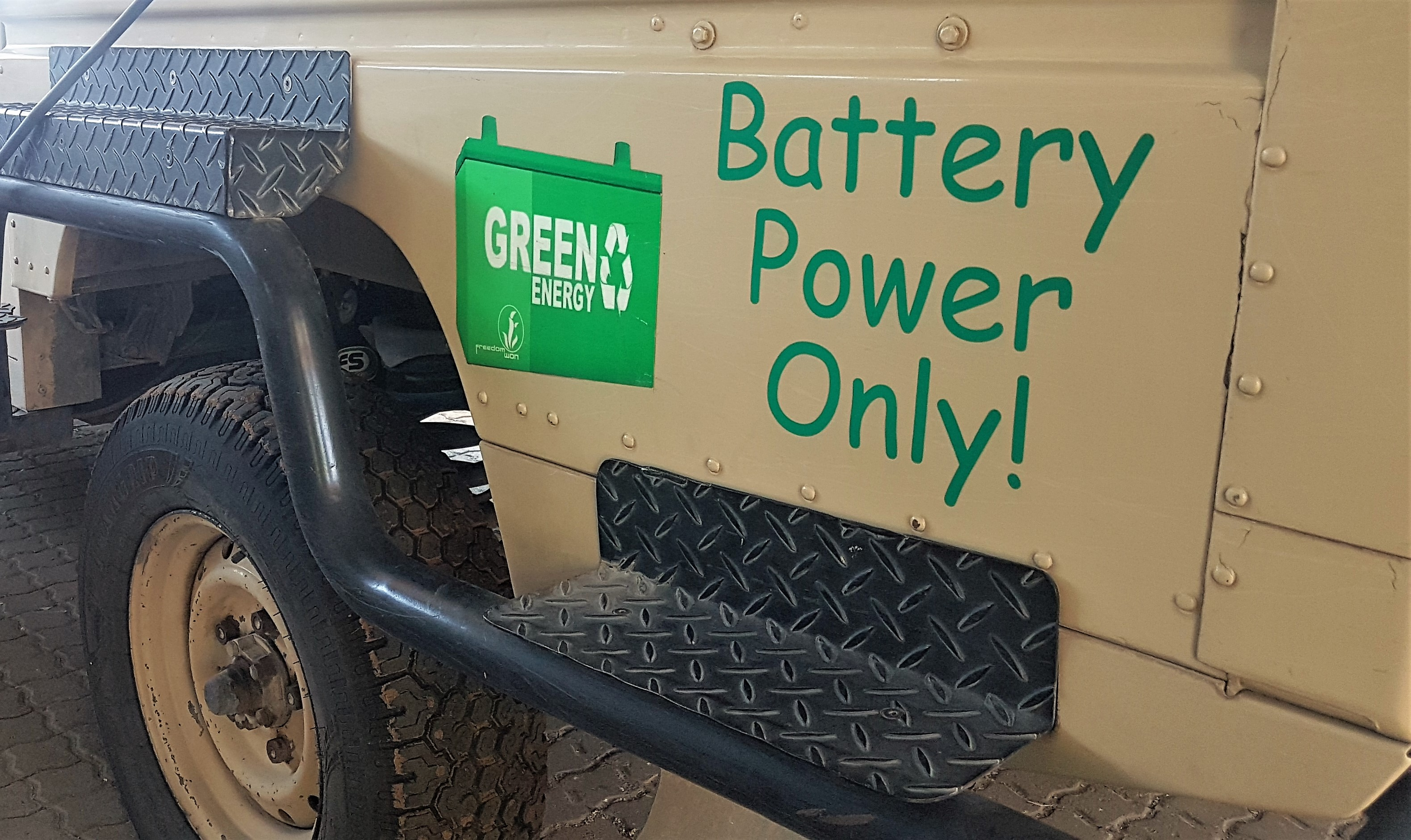 Battery power only - Responsible Traveller magazine