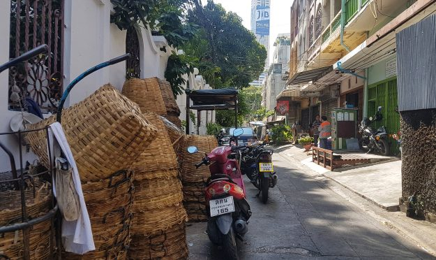 Baskets and bikes in Bangkok