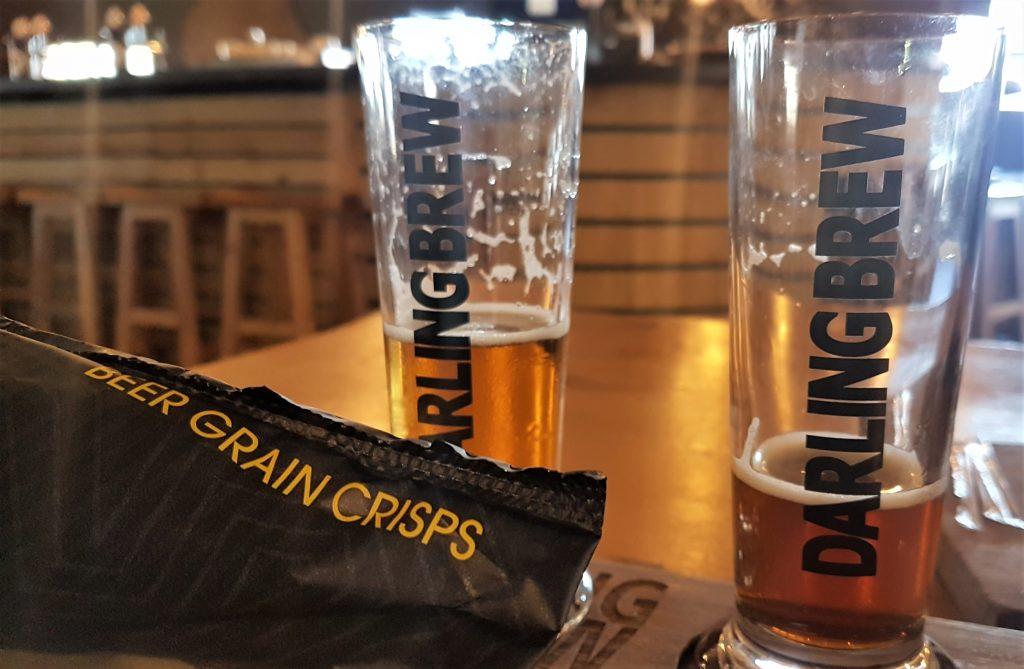 West Coast Darling Brew beer and crisps