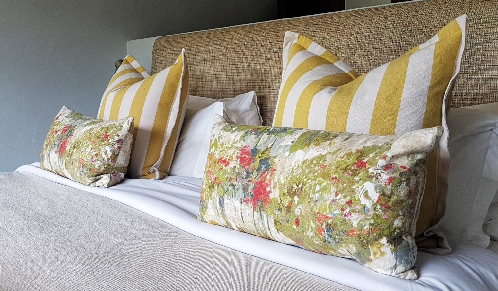 Bedroom decor in Otter Cottage at Brahman Hills