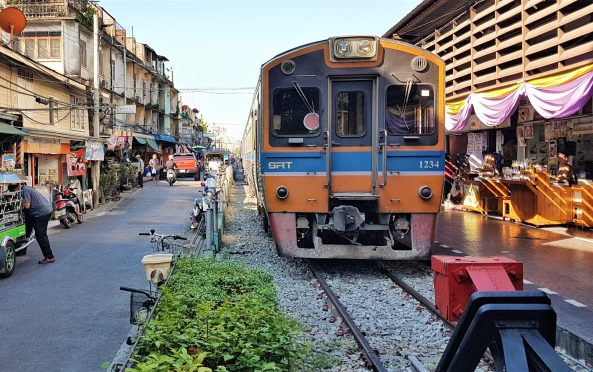 Commuter train in Bangkok