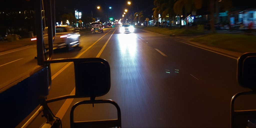 The view from local taxi from Bang Niang Market to Robinson Club Khao Lak